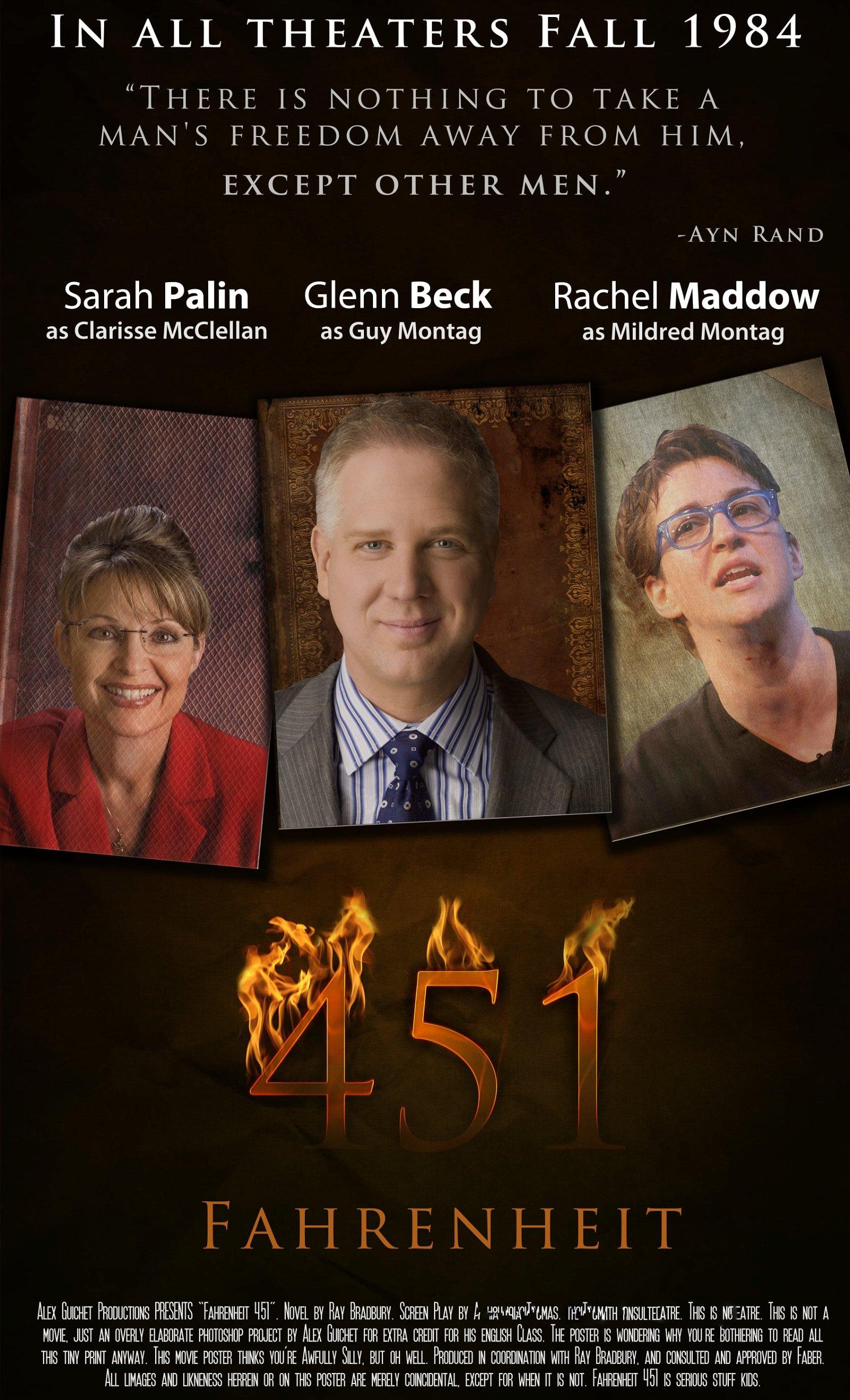 Fahrenheit 451: A fake movie poster, for a fake movie.